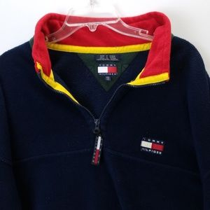 VINTAGE TOMMY HILFIGER MEN'S FLEECE JACKET